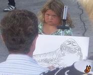 Bambina caricatura Jabba