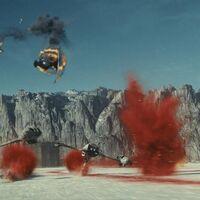 CRAIT DEFENSE Star Wars THE LAST JEDI Force Link REY battle on crait