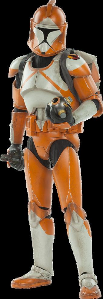 Lego Star Wars Orange Bomb Squad Clone Trooper Minifigure Lot of 4