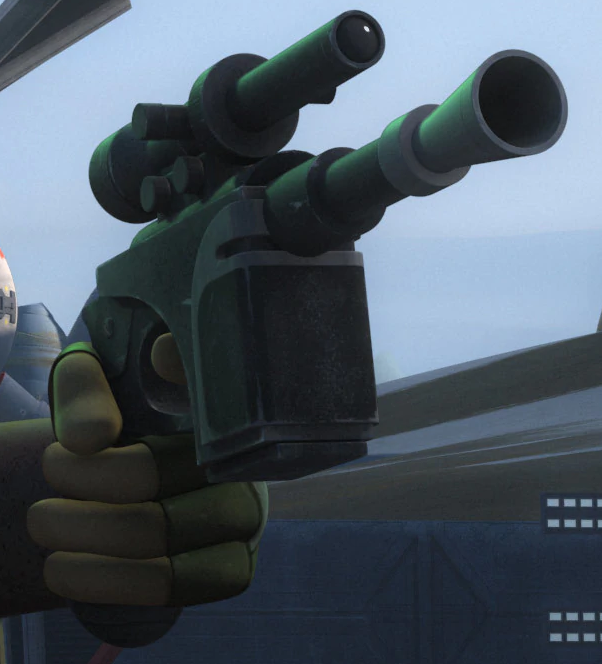 Ezra's heavy blaster pistol
