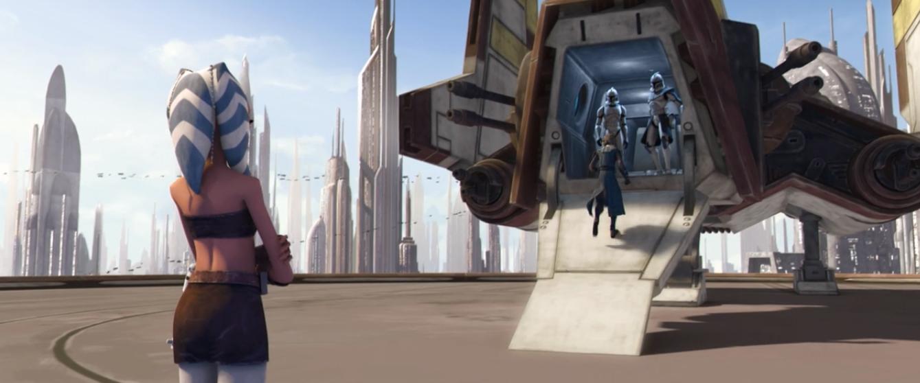Nu-class transport with Captain Rex Anakin and Ahsoka.png