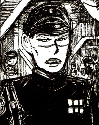 Scarfaced Imperial officer