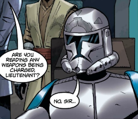 Unidentified clone trooper lieutenant (Medica)