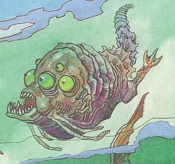Unidentified six-eyed aquatic creature