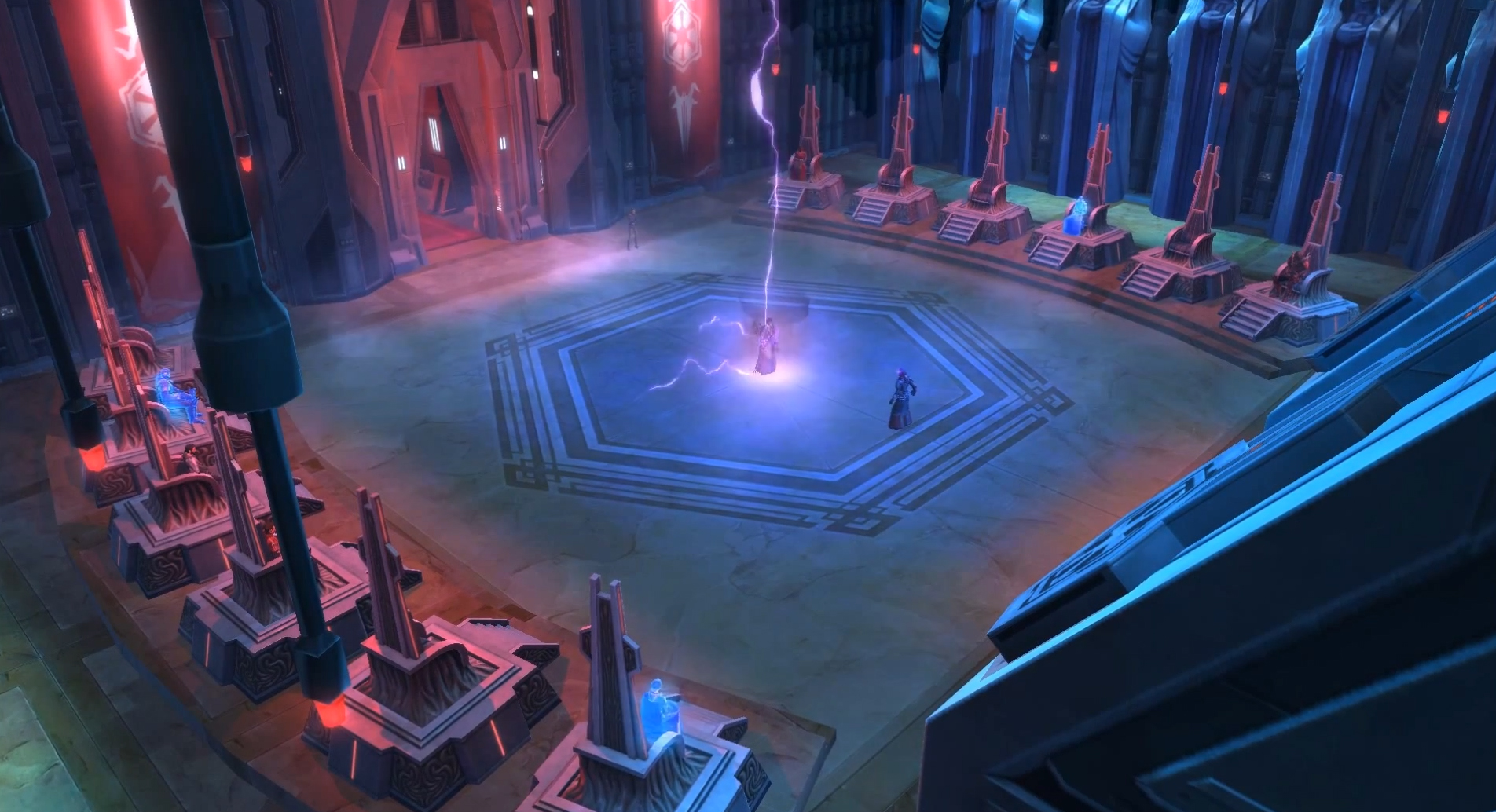 Duel in the Dark Council Chambers (Kaggath)