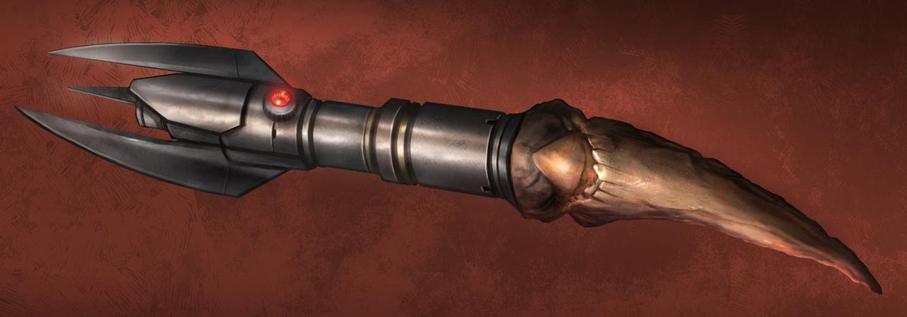 Darth Baras' first lightsaber