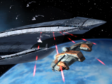 Skirmish aboard the Leviathan