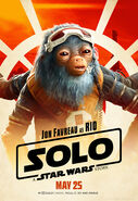 Solo A Star Wars Story Rio Durant character poster