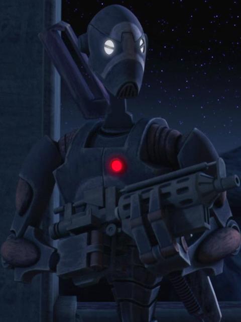 Unidentified BX-series droid commando captain (Rishi Station)