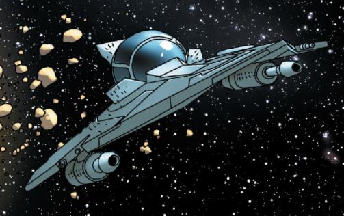 Yoda's Delta-7 Aethersprite-class light interceptor