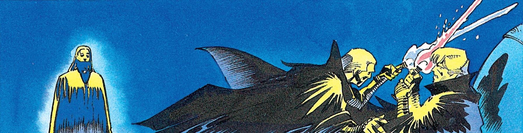 Palpatine's blue-bladed lightsaber