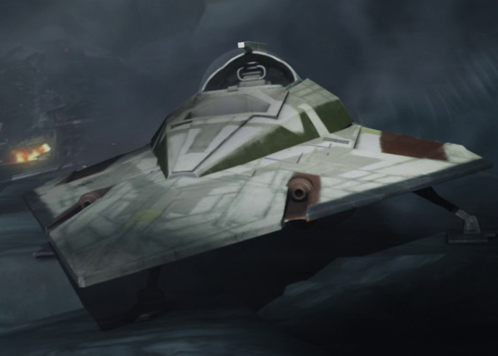 Mace Windu's Delta-7B Aethersprite-class light interceptor