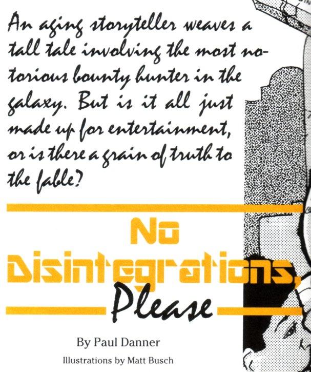 No Disintegrations, Please