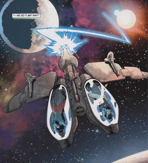 Zodoh's twin-seater starfighter