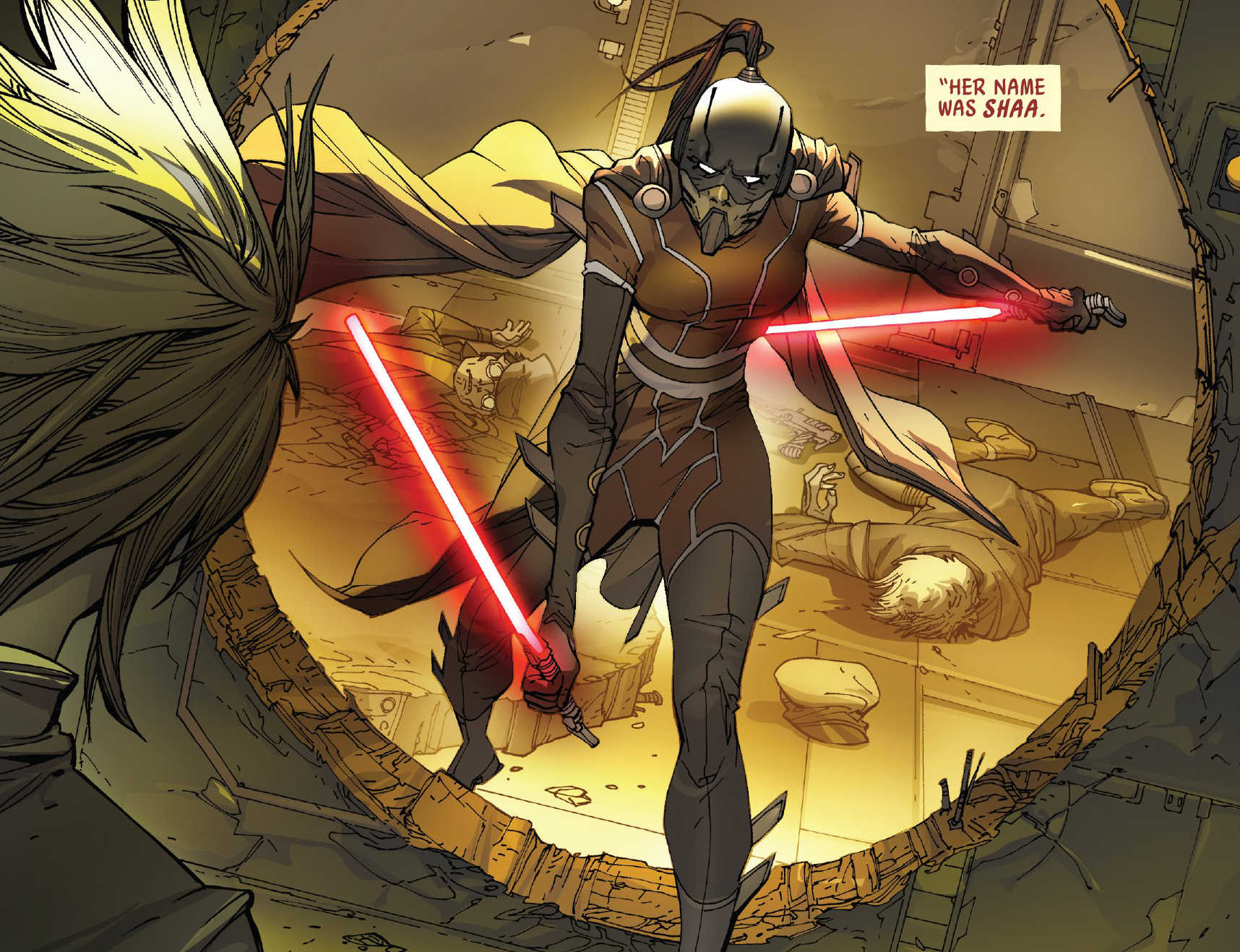 Darth Shaa's lightsabers