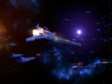 First skirmish with the Eternal Fleet