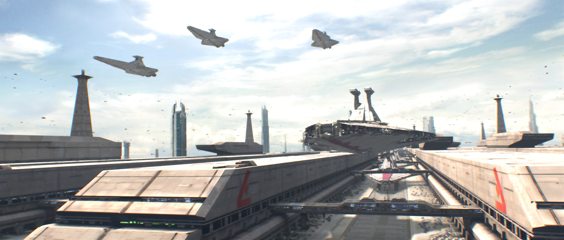 Coruscant cruiser staging area