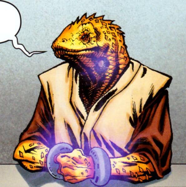 Unidentified reptilian Jedi Knight