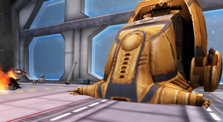 Attack on a Venator-class Star Destroyer