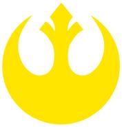 Rebel symbol Yellow