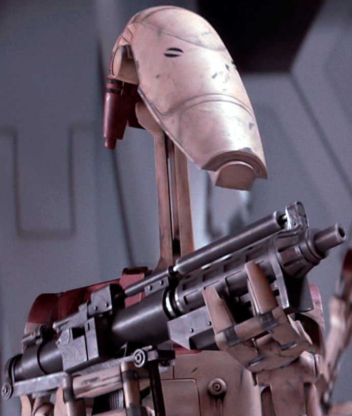 Unidentified OOM security battle droid (Saak'ak; corporal)