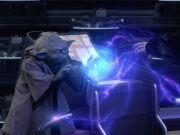 Yoda respinge i fulmini di forza con l'uso delle sole mani.jpg