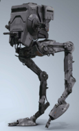 A First Order All Terrain Scout Transport walker