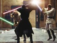 Darth Maul bojuje na Naboo proti Obi-Wan Kenobimu a Qui Gon JInnovi