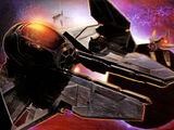 Darth Vader's black Eta-2 Actis-class interceptor