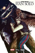 Han Solo comic promotional cover