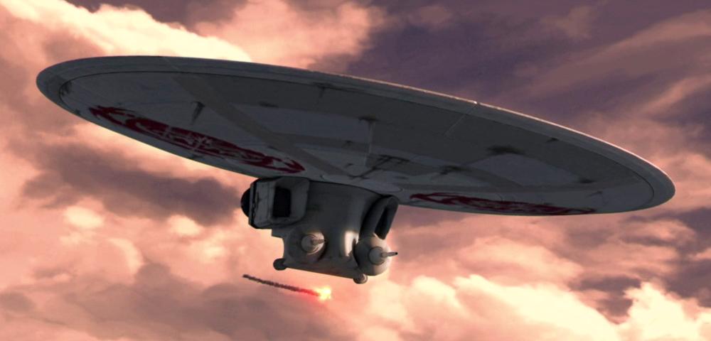 Barb Mentir's Flarestar-class attack shuttle