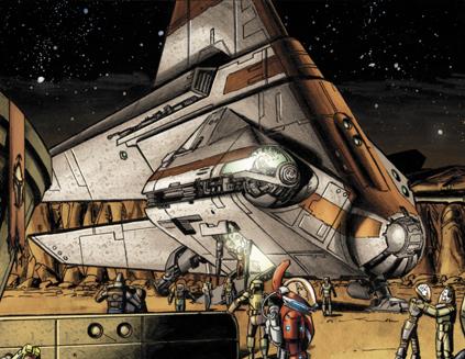 Republic shuttle (Mandalorian Wars)