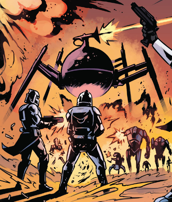 OG-9 homing spider droid at the Battle of Mimban.png