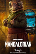 Frog Lady The Mandalorian S2 Poster