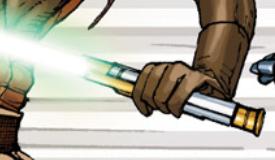 Satele Shan's green-bladed lightsaber