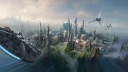Star Wars land aerial view