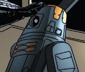 Unidentified black astromech droid