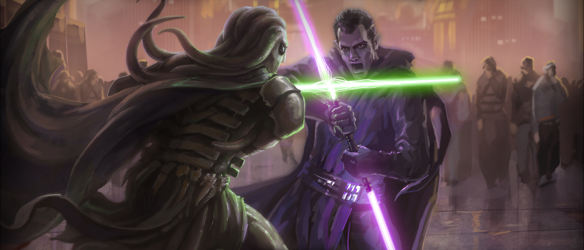 Duel on Coruscant (Inter–Sith Wars Period)