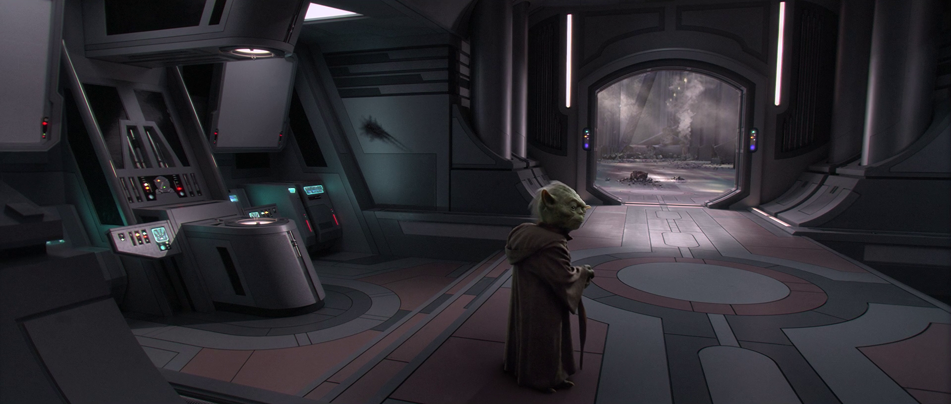 Jedi Temple central security station