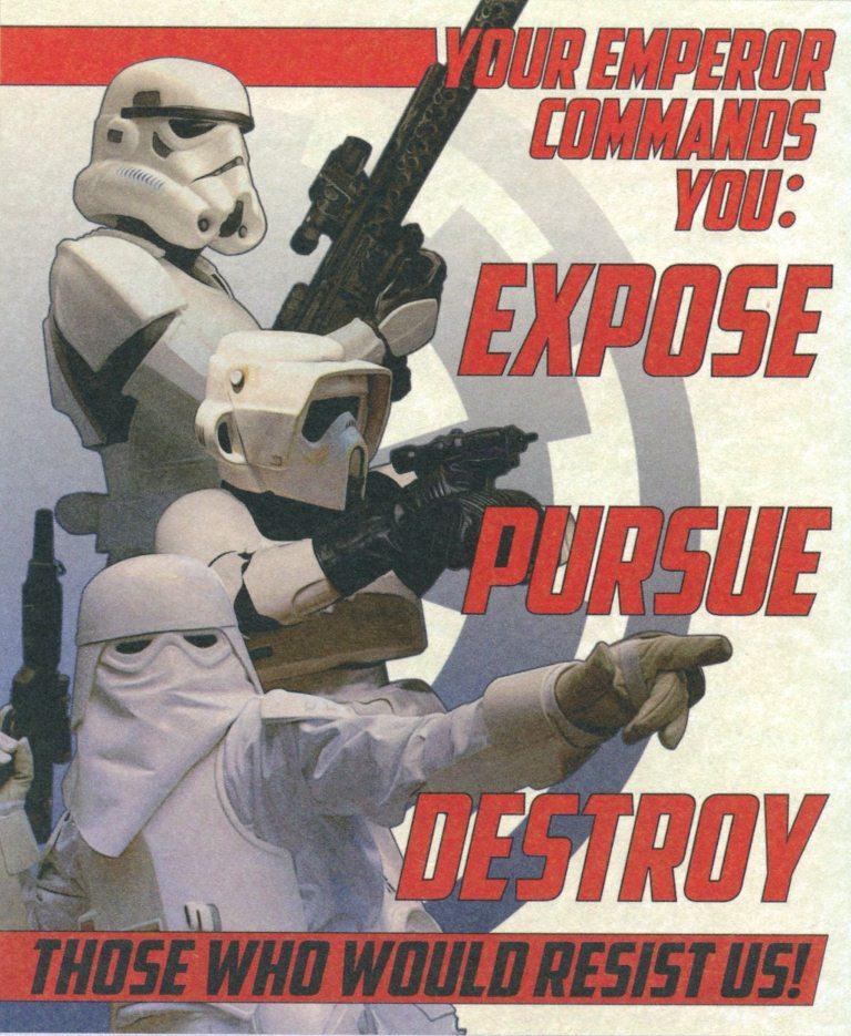 Expose, Pursue, Destroy/Legends