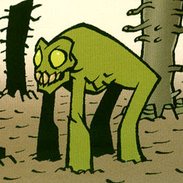 Unidentified green creature