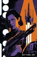 Star Wars Princess Leia Vol 1 3 Francesco Francavilla Textless Variant