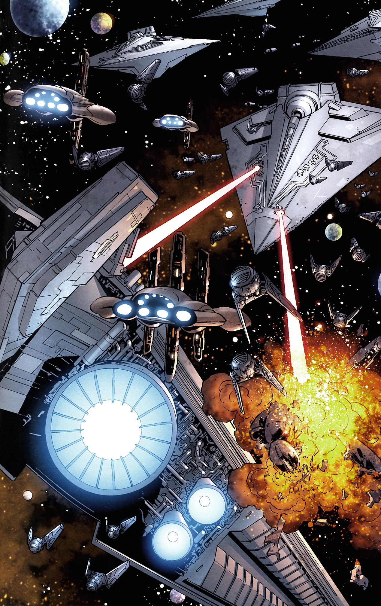 Attack on the Galactic Alliance Core Fleet