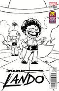 Star Wars Lando Vol 1 1 Skottie Young Black and White Variant
