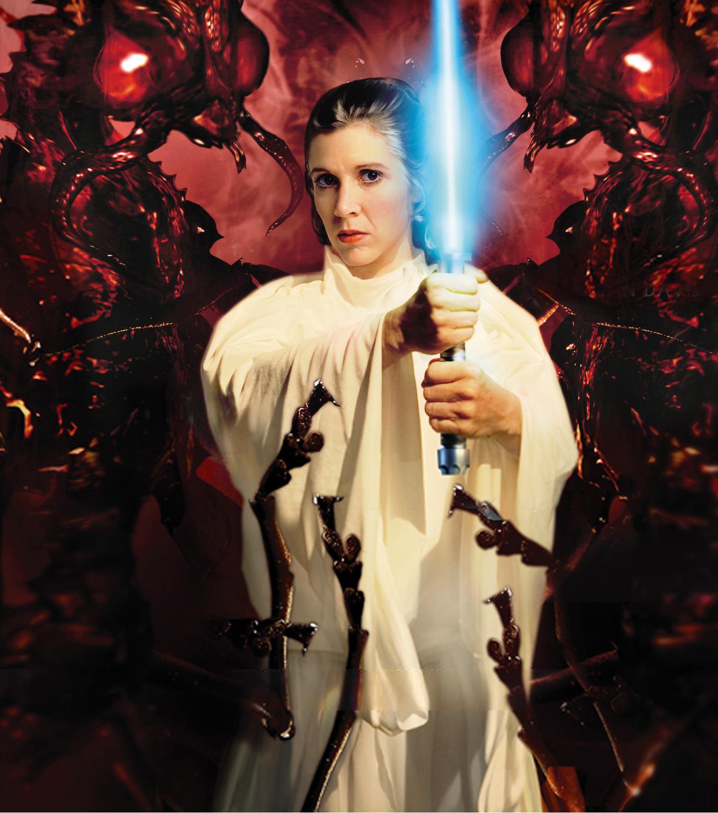 Leia Organa Solo's lightsabers
