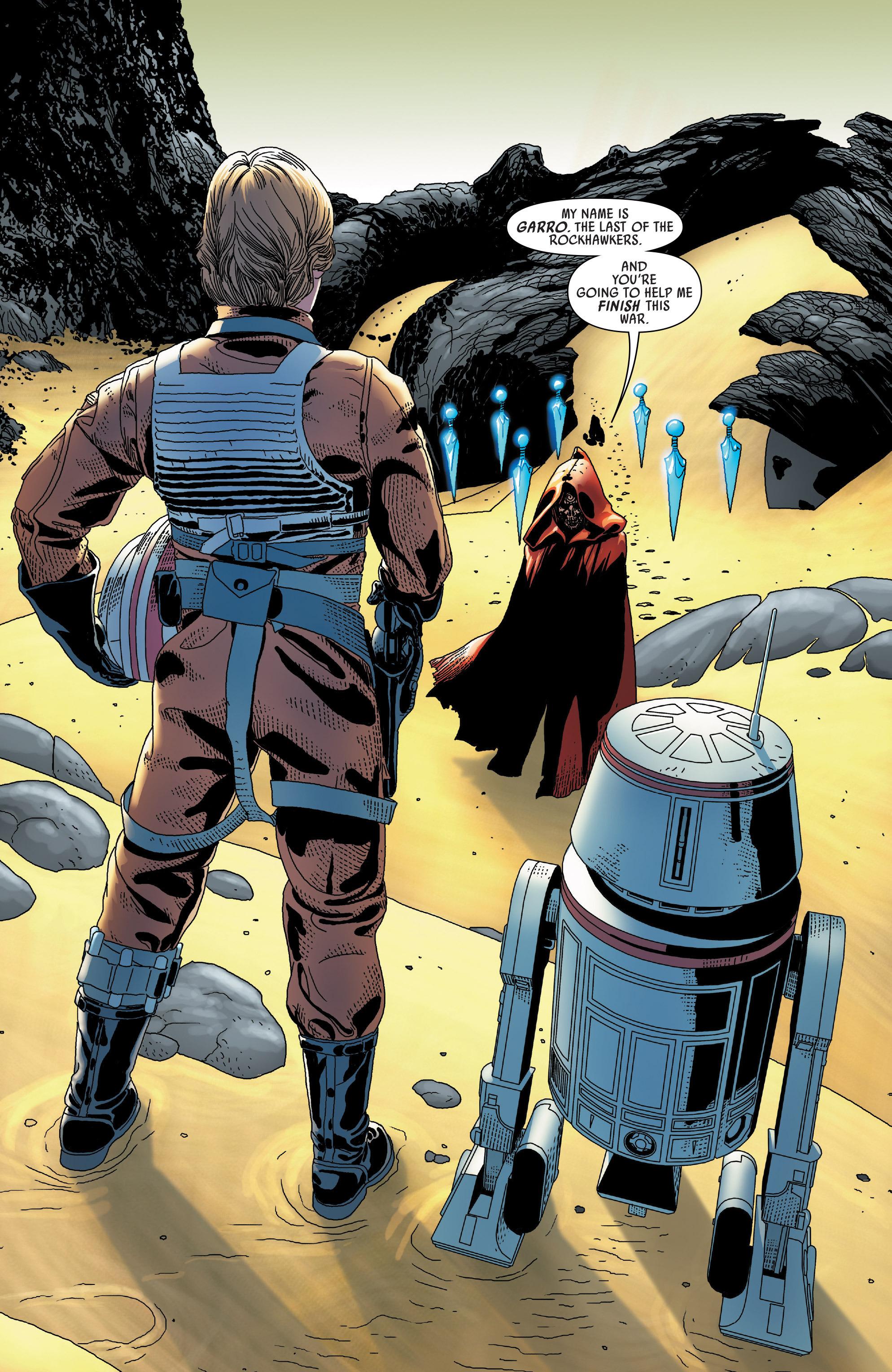 Mission to unidentified planet (Luke Skywalker)