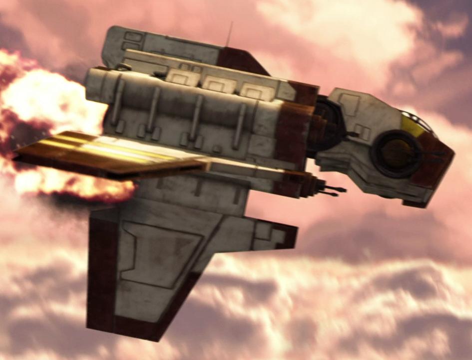 Kharrus's Nu-class attack shuttle