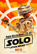 Solo A Star Wars Story L3-37 character poster
