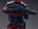 Guavian security soldier