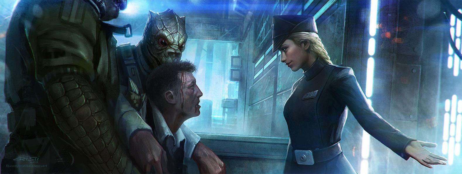 Unidentified female Imperial officer (mercenary backer)